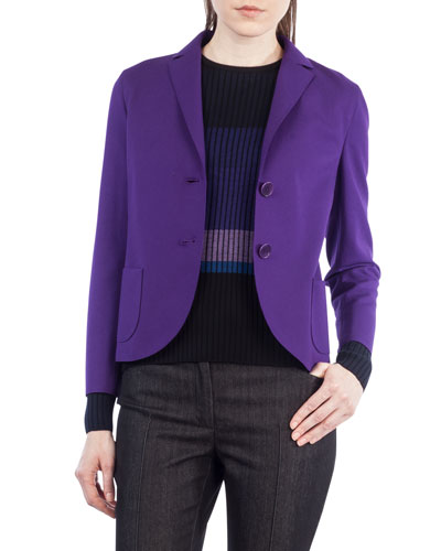 Jersey Two-Button Blazer
