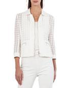 Bracelet-Sleeve Punto Lace Jacket