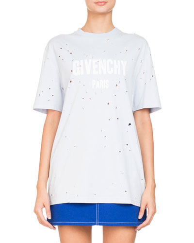 Destroyed Short-Sleeve Logo Jersey T-Shirt
