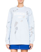Destroyed Logo Pullover Sweatshirt