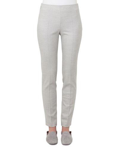 Melissa Straight-Leg Wool Flannel Pants