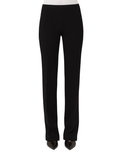 Carol Straight-Leg Wool Crepe Pants