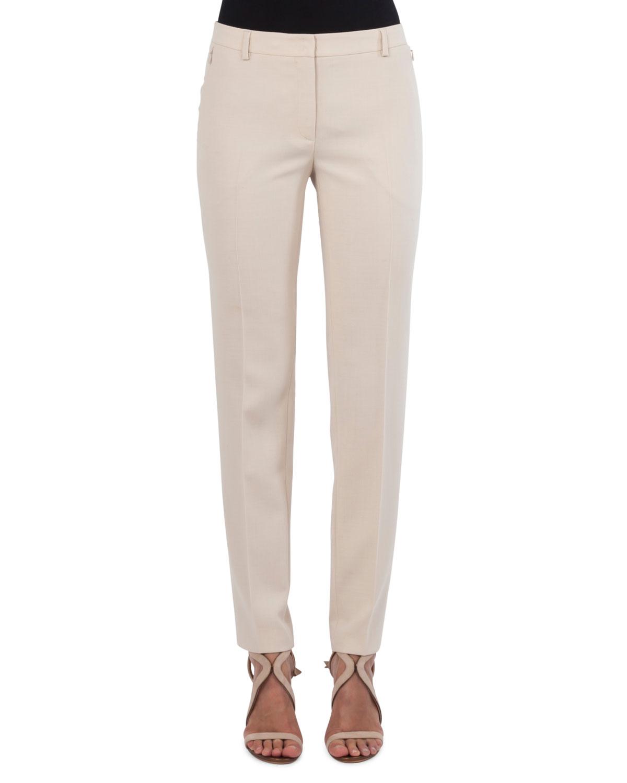 Melvin Straight-Leg Wool Pants