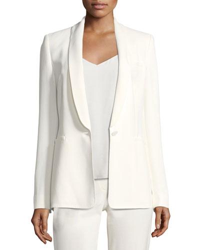 Shawl-Collar Soft Easy Jacket