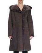 Shearling Fur-Lined Lambskin Parka