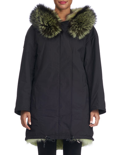 Loro Piana Parka with Fox Fur Lining