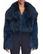 Cropped Fox Fur Jacket