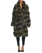 Oversized Mixed Fur Coat