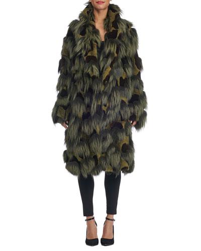 Oversized Mixed Fur Coat