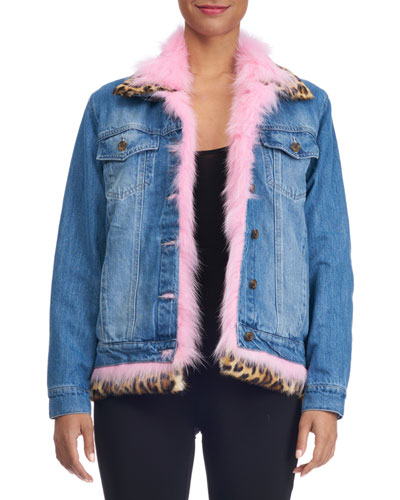 DENIM JACKET REVERSIBLE TO F