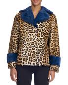 Animal-Print Fur Coat