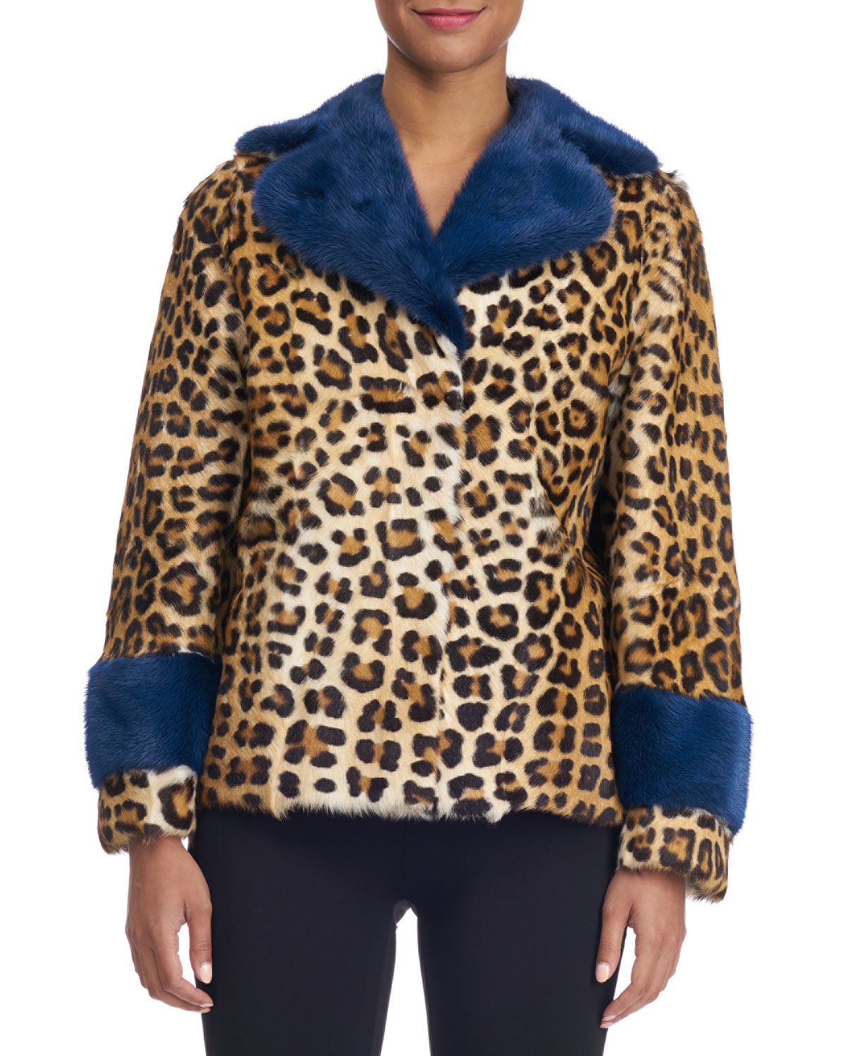 Animal-Print Fur Coat