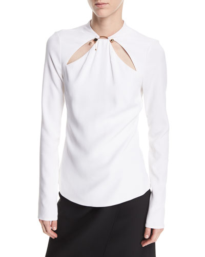 Cutout Long-Sleeve Top