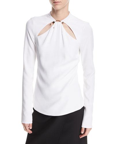 Cutout Long-Sleeve Top