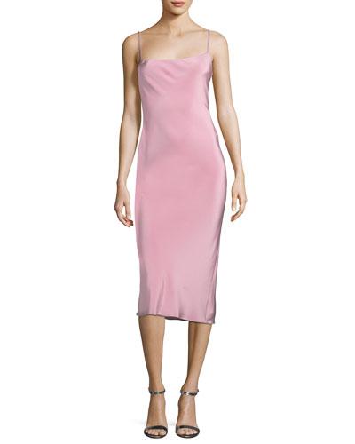 Irina Strappy-Back Slip Dress