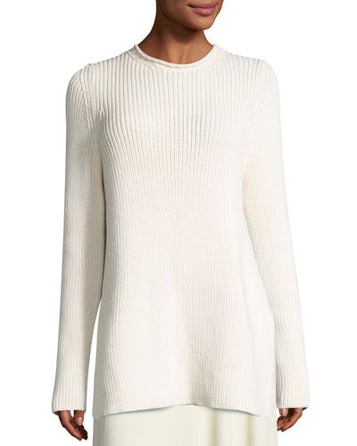 Selina Ribbed Crewneck Sweater