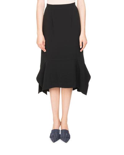 Arthur Crepe A-line Midi Skirt