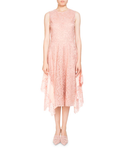 Alana Sleeveless High-Neck Lace Cocktail Dress