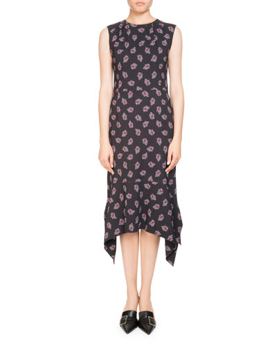Elvie Sleeveless Floral-Print Midi Dress