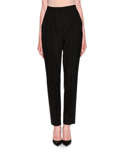 High-Waist Virgin Wool Pants