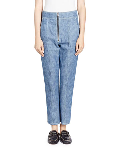 Namiris Zip-Front Peg-Leg Jeans