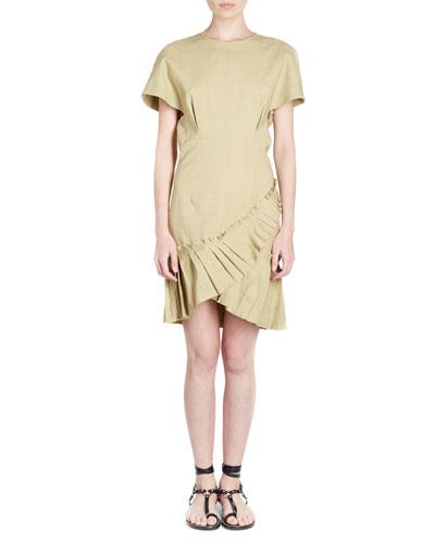 Rimba Crewneck Short-Sleeve Poplin Dress