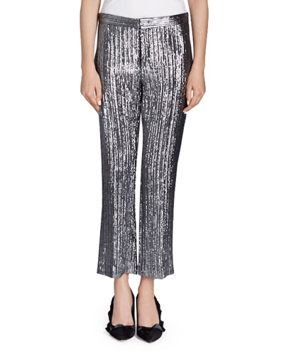 Dansley Cropped Lamé Pants