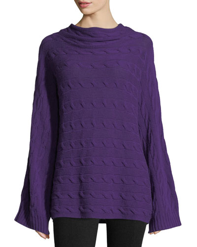Cable-Knit Cashmere Pullover Sweater