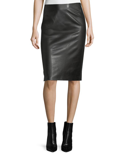 Cynthia Leather Pencil Skirt