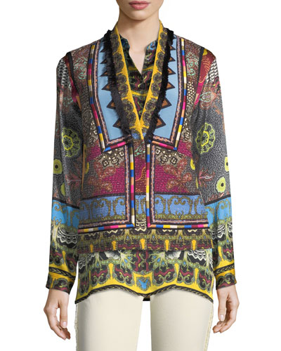 Mandala Printed & Embroidered Vest