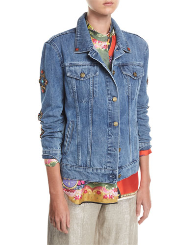 Denim Jean Jacket With Studs