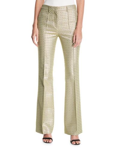 Metallic Dobby Jacquard Pants