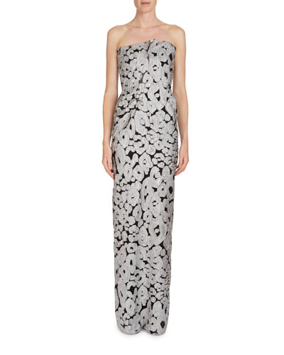 Henderson Strapless Fil Coupe Column Gown