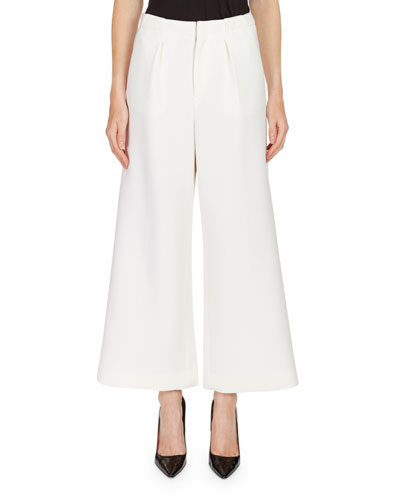 Broadgate Pleated Wide-Legs Pants