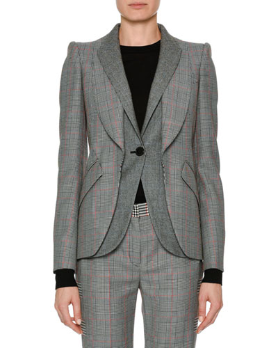Patchwork Houndstooth Jacket
