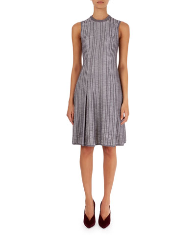 Textured Plaid Flippy Dress