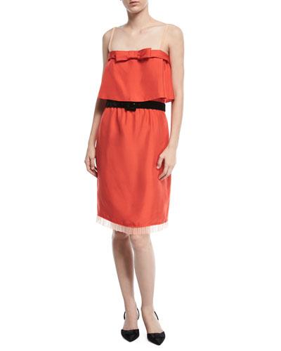 Textured Silk Popover Dress