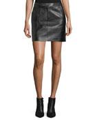 Bennett Leather Skirt