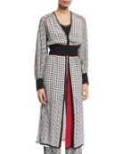 Tabitha Scarf-Print Long Robe