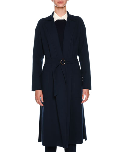 Double Wool Crepe Timeless Coat