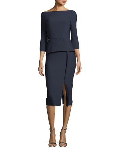 Ardingly Off-the-Shoulder Peplum Dress