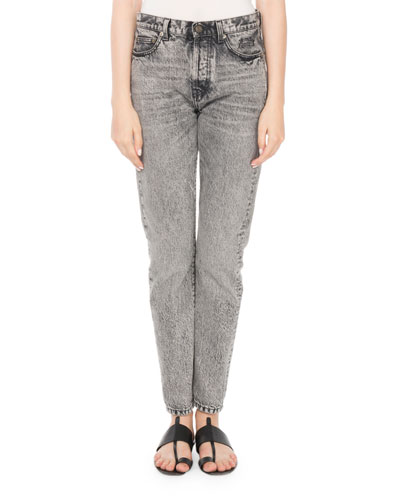 Mid-Rise 5-Pocket Straight-Leg Jeans