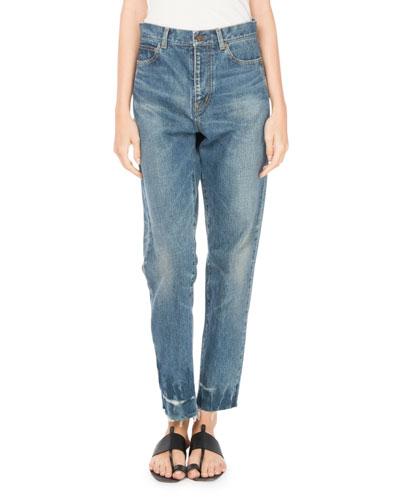 Straight-Leg 5-Pocket Cotton Jeans