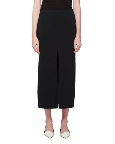 Double-Ribbed Slit Skirt