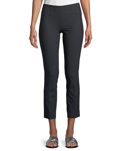 Lightweight Wool-Blend Pull-On Pants