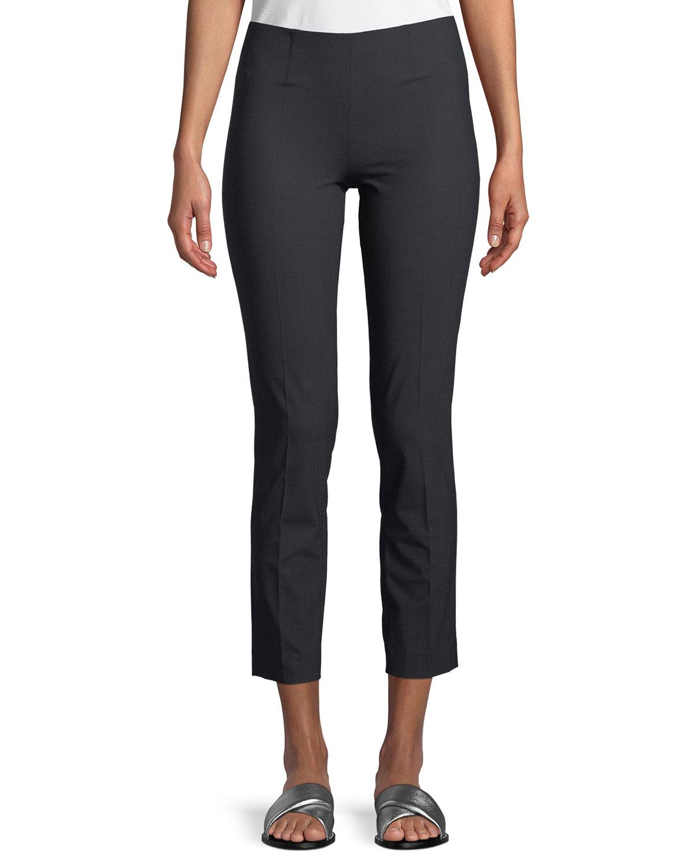 Lightweight Wool-Blend Pull-On Pants