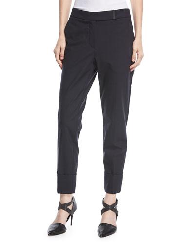 Pants for Women On Sale, Grey, Wool, 2017, 16 Seventy