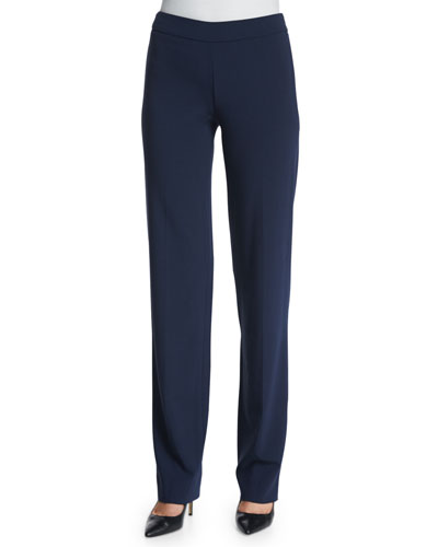 Slim-Fit Side-Zip Pants, Astral Blue