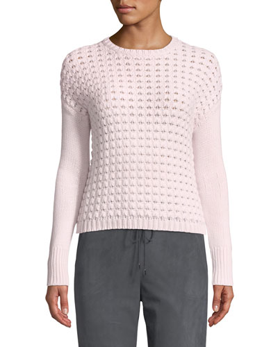 Knit Cashmere Crewneck Sweater
