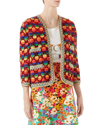 GG Rainbow Velvet Jacket
